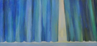Esirippu, 2012, tempera kankaalle, 45 x 21 cm
