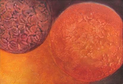 Kohtaaminen, 2010, sekatekniikka pahville 28,5 x 19,5 cm