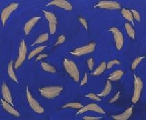 Kun uni ei tule, 2010, tempera kankaalle, 48 x 37,5 cm