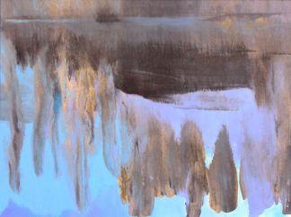 Viimeinen valo 2012, sekatekniikka paperille, 29 x 21,5 cm