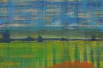 LAKEUS? 2014, tempera kankaalle, 100 x 66 cm