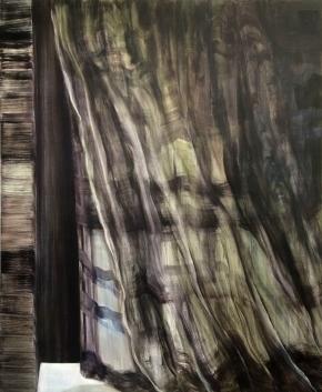 Joku saapuu II, 2014, öljy kankaalle, 131 x 165 cm 1100€