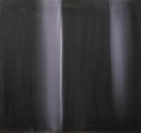 Odotus, 2014, öljy mdf-levylle, 48,5 x 51,5 cm 350 €
