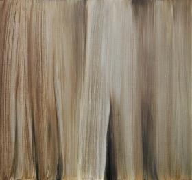 Piilossa, 2014, öljy mdf-levylle, 48,5 x 51,5 cm 350 €